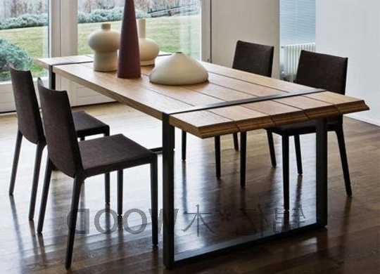 Most Recent Industrial Style Dining Tables With Regard To French Industrial Style Desk Loft America Nostalgic Retro Iron Wood (View 15 of 20)