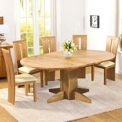 Most Recent Inspiring Extending Solid Oak Dining Table Monty Solid Oak Extending Throughout Round Oak Extendable Dining Tables And Chairs (View 7 of 20)