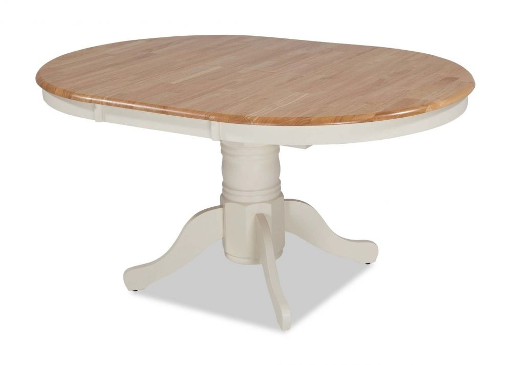 Most Recent Ivory Frame Round Top Extendable Dining Table – Wyatt – Ez Living For Wyatt Dining Tables (View 12 of 20)