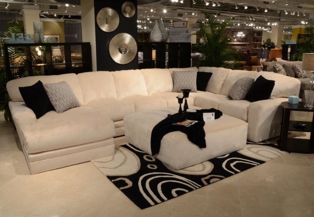 Most Recent Jackson 6 Piece Power Reclining Sectionals Inside Jackson Furniture Everest Modular Sectional Sofa In Ivory (View 15 of 15)