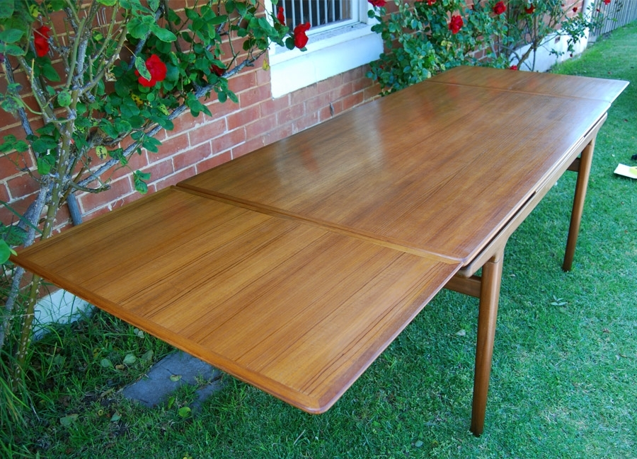 Most Recent Johannes Andersen Teak Extending Dining Table To (View 17 of 20)