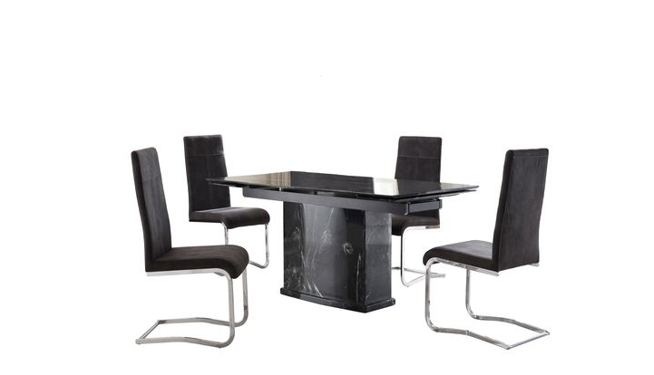 Most Recent Lanza Extending Dining Table & 4 Lanza Chairs – Scs For Scs Dining Furniture (View 6 of 20)