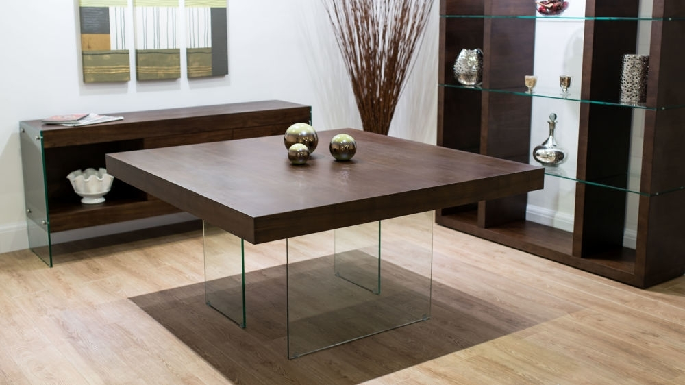 Most Recent Modern Dark Wood Square Dining Table (View 14 of 20)