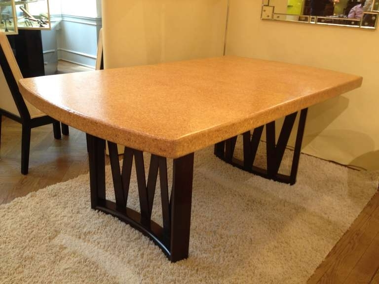 Most Recent Paul Frankl Cork Top Dining Table At 1Stdibs Regarding Cork Dining Tables (View 7 of 20)