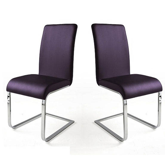 Most Recent Purple Faux Leather Dining Chairs With Regard To Lotte I Violet Faux Leather Dining Chair In A Pair (View 14 of 20)