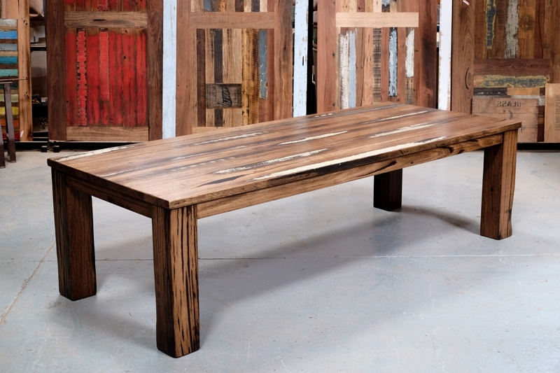 Most Recent Recycled Timber Dining Tables & Outdoor Timber Furniture Melbourne Pertaining To Dining Tables With Large Legs (View 13 of 20)