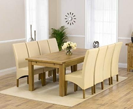Most Recent Roma Dining Tables And Chairs Sets For Rustique 220Cm 310 Cm Solid Oak Extending Dining Table Set With  (View 8 of 20)