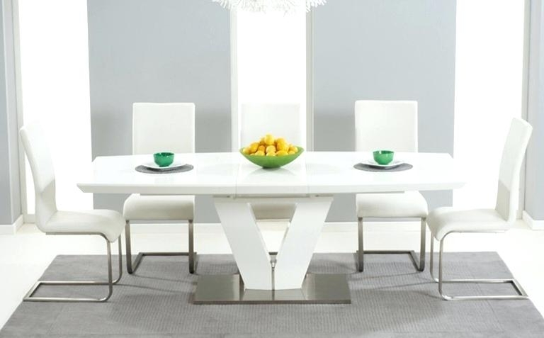 Most Recent Round High Gloss Dining Tables For White High Gloss Dining Table Delivery And 4 Chairs – Yourlegacy (View 19 of 20)