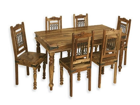 Most Recent Sheesham Wood Dining Tables Inside Sheesham Wood Dining Table Set At Rs 34500 /set (View 10 of 20)
