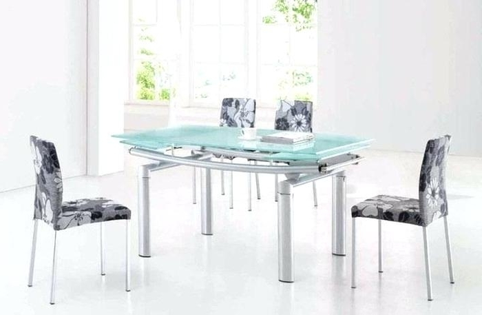 Most Recent Smoked Glass Dining Tables And Chairs With Regard To Frosted Glass Dining Table And Chairs 6 Frosted Glass Dining Room (View 10 of 20)