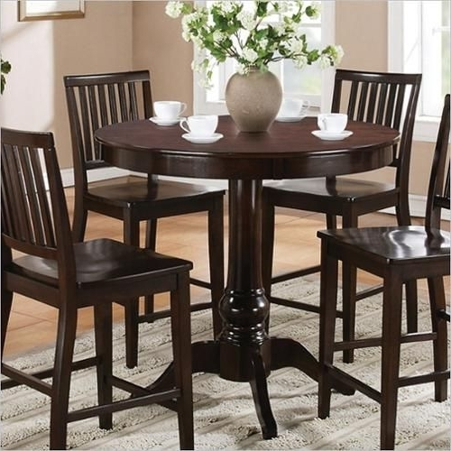 Most Recent Steve Silver Company Candice Round Counter Height Dining Table In Intended For Candice Ii 7 Piece Extension Rectangle Dining Sets (View 12 of 20)
