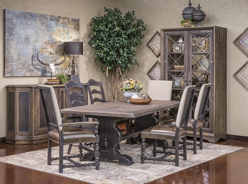 Most Recent Valencia 72 Inch Extension Trestle Dining Tables Throughout Hemispheres Dining Category (View 12 of 20)
