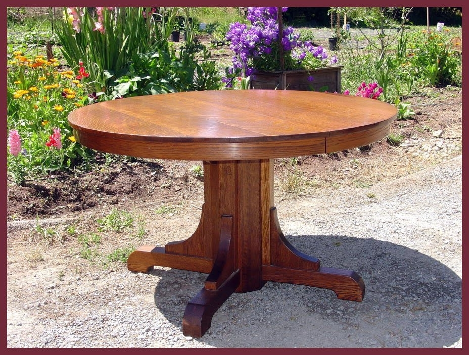 Most Recent Voorhees Craftsman Mission Oak Furniture – Original Vintage Gustav Inside Craftsman Round Dining Tables (View 16 of 20)