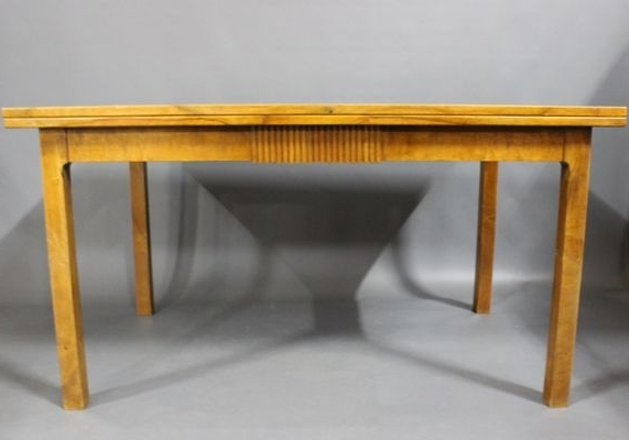 Most Recent Walnut Dining Tables Within Extendable Danish Walnut Dining Table, 1940S For Sale At Pamono (View 9 of 20)