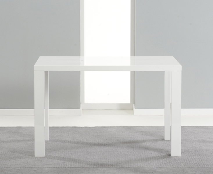 Most Recent White Gloss Dining Tables 120Cm Pertaining To Buy Mark Harris Ava White High Gloss Dining Table – 120Cm (View 4 of 20)