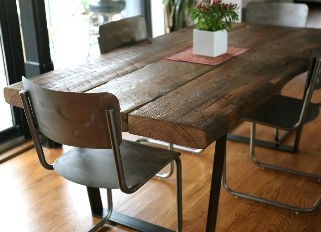 Most Recent Wood Iron Table Brown Walnut Desk Industrial Cast Iron Walnut Desk With Regard To Iron And Wood Dining Tables (View 15 of 20)