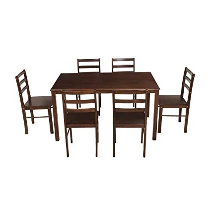 Most Recent Woodness Camela Solid Wood Non Upholstered 6 Seater Dining Table Set In Non Wood Dining Tables (View 14 of 20)
