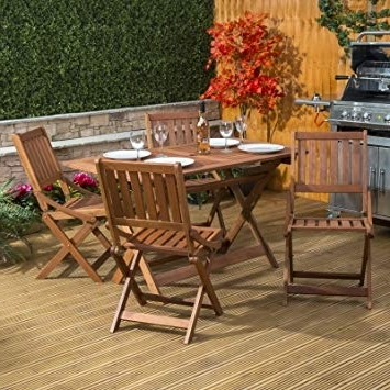 Most Recently Released Alfresia Sienna Wooden Table And 4 Chair – Folding Garden & Patio In Outdoor Sienna Dining Tables (View 6 of 20)