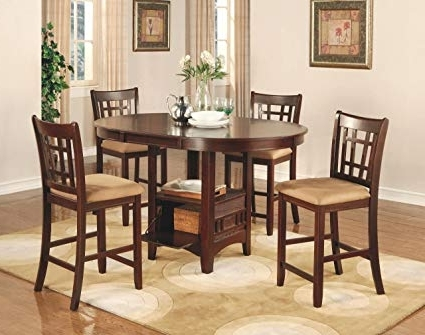Most Recently Released Amazon – Coaster Lavon 5 Piece Counter Table And Chair Set In With Jameson Grey 5 Piece Counter Sets (View 15 of 20)