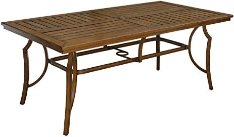 Most Recently Released Amazon – Furniture Of America Cm Ot2126 T Desiree Patio Pertaining To Carly Rectangle Dining Tables (View 12 of 20)