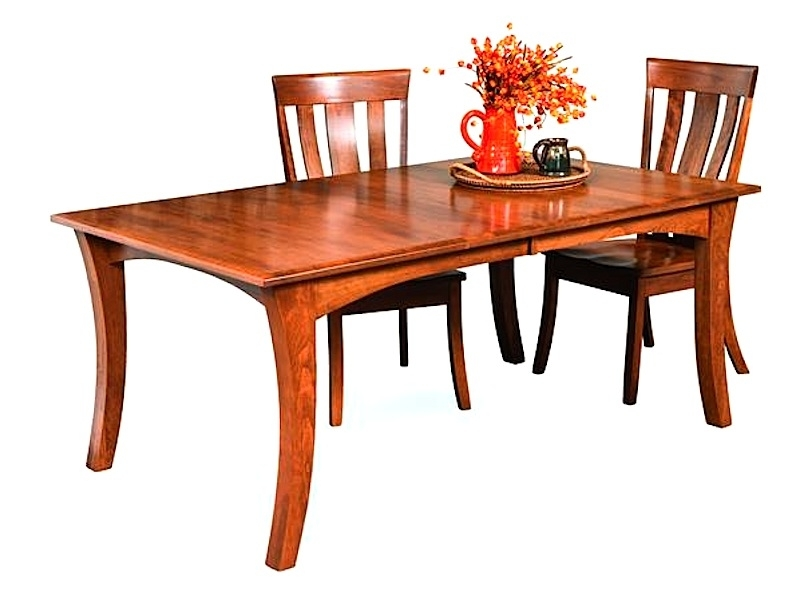 Most Recently Released Amish Furniture: Hand Crafted, Solid Wood Dining Leg Tables Intended For Chandler Extension Dining Tables (View 15 of 20)