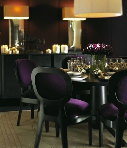 Most Recently Released Black And Purple Dining Chair Design Ideas In Dining Tables And Purple Chairs (View 14 of 20)