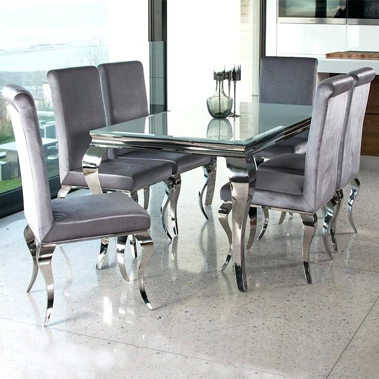 Most Recently Released Black And White Glass Dining Table – Pizzaitaliana In Chrome Glass Dining Tables (View 12 of 20)