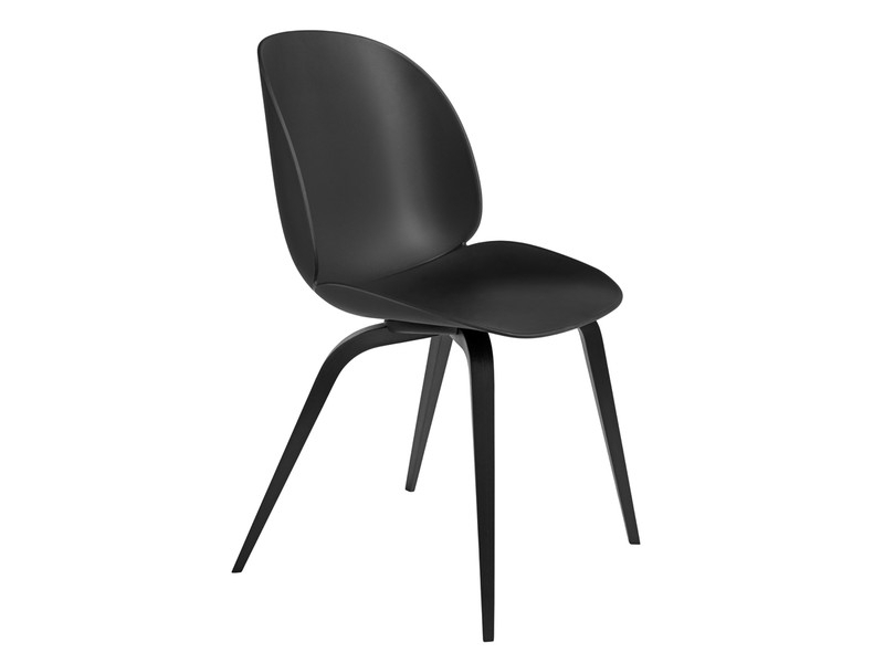 Most Recently Released Buy The Gubi Beetle Dining Chair Unupholstered Black Wood Base At Inside Black Dining Chairs (View 16 of 20)