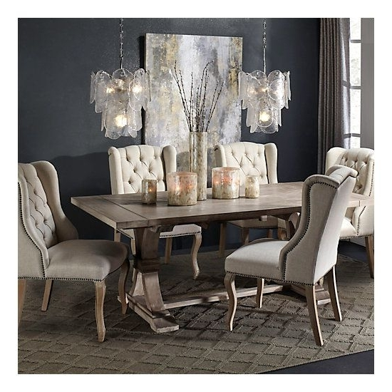 Most Recently Released Caira 7 Piece Rectangular Dining Sets With Upholstered Side Chairs In Archer Natural Grey Extending Dining Table In  (View 10 of 20)
