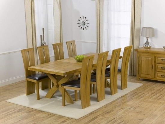 Most Recently Released Canterbury Solid Oak Dining Table + 8 Arizona Dining Chair Dining Regarding Solid Oak Dining Tables And 8 Chairs (View 11 of 20)