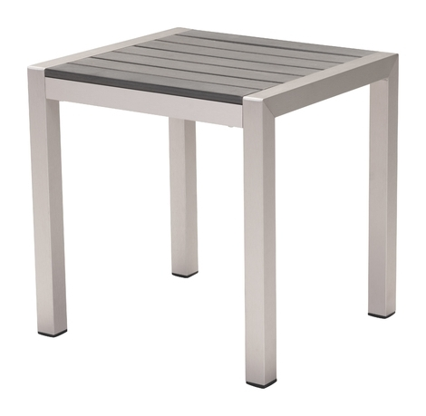 Most Recently Released Carly Rectangle Dining Tables In Carly Indoor/outdoor Side Table, Gray (View 13 of 20)