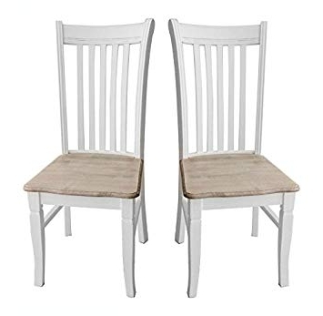 Most Recently Released Charles Bentley Home Pair Of Shabby Chic Dining Chairs 2 Vintage Within Shabby Chic Dining Chairs (View 4 of 20)