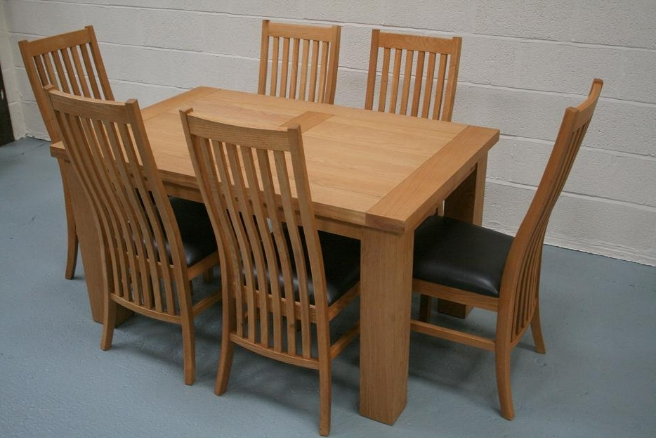 Most Recently Released Cheap Oak Dining Sets Intended For Riga Oak Dining Sets (View 2 of 20)