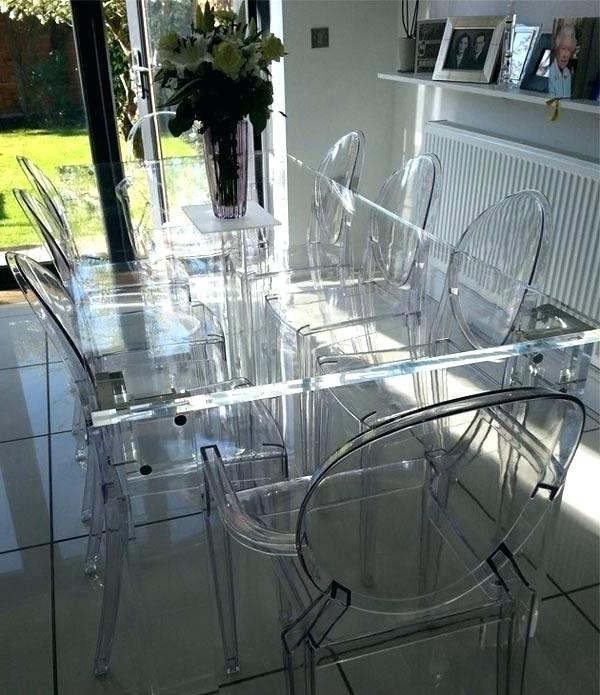 Most Recently Released Clear Plastic Dining Table White Molded Plastic Dining Chairs Design For Clear Plastic Dining Tables (View 2 of 20)