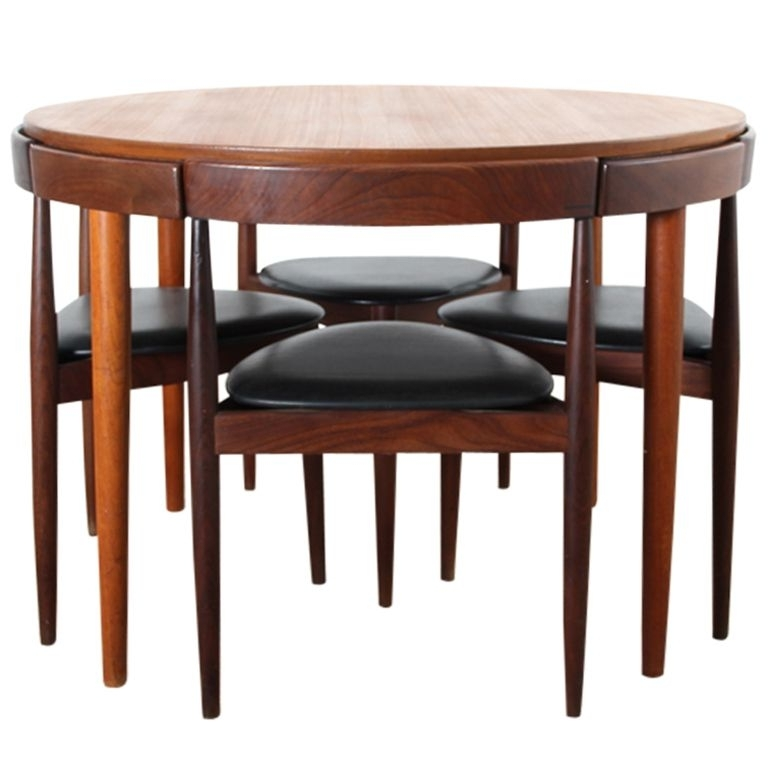 Most Recently Released Compact Dining Room Sets Intended For Danish Teak Dining Set For Fourhans Olsen (View 10 of 20)