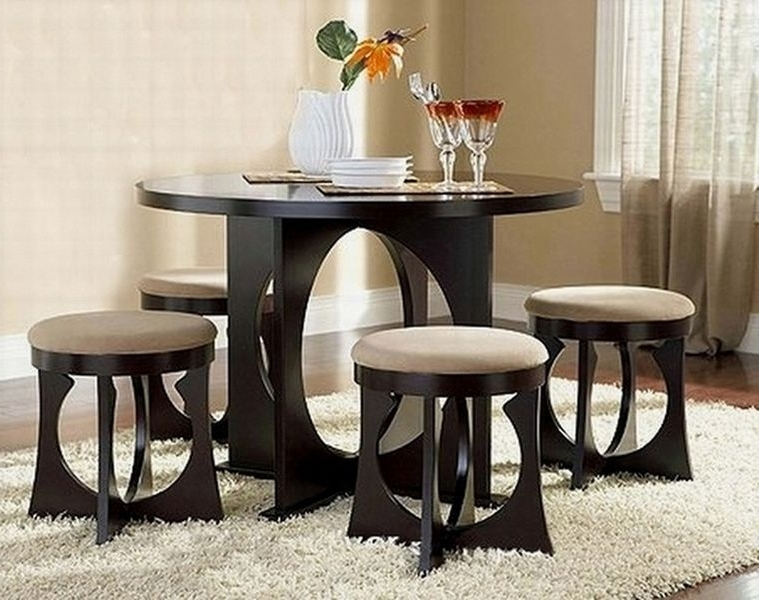 Most Recently Released Compact Dining Table Sets – Castrophotos Within Compact Dining Room Sets (View 11 of 20)