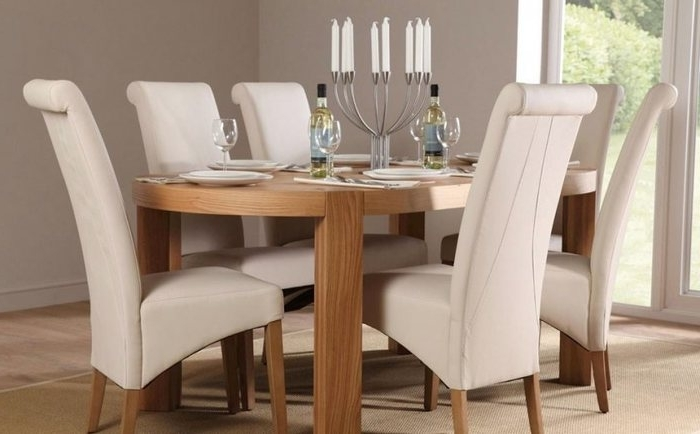 Most Recently Released Cream Dining Tables And Chairs Within  (View 16 of 20)