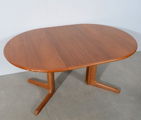 Most Recently Released Danish Modern Round Teak Dining Table Teak Pedestal Table Gudme Intended For Round Teak Dining Tables (View 6 of 20)