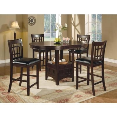 Most Recently Released Dining Room Dining Room Sets Lavon 100288 5 Pc Counter Height Dining With Regard To Jaxon 5 Piece Extension Counter Sets With Wood Stools (View 13 of 20)