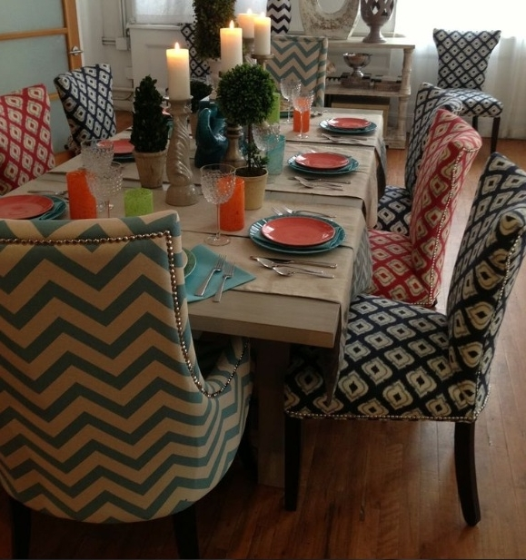 Most Recently Released Dining Tables And Fabric Chairs With 15 Dining Room Chair Fabric Ideas Cloth Chairs Amazing Pretty (View 15 of 20)