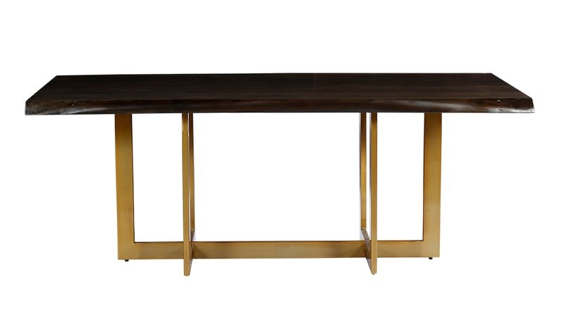 Most Recently Released Everly Quinn Minni Acacia Wood Slab Dining Table & Reviews (View 17 of 20)