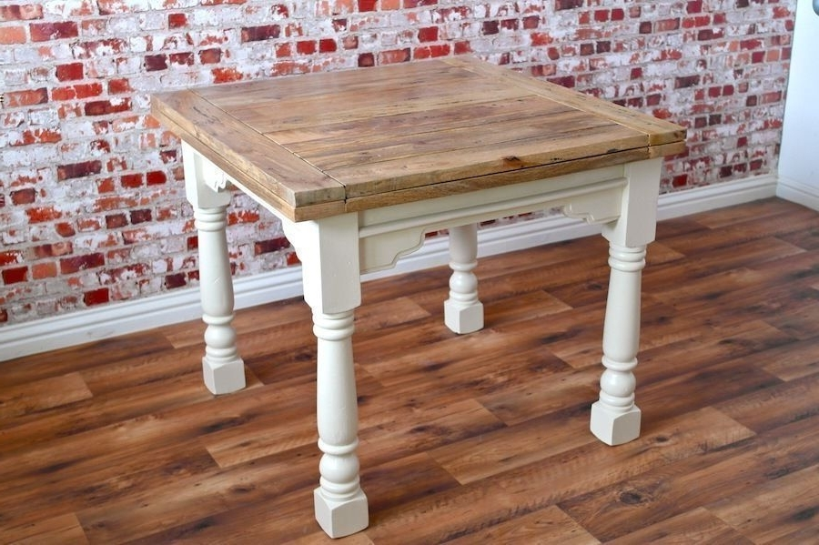 Most Recently Released Extending Rustic Dining Table Drop Leaf – Folding Ergonomic Space For 3Ft Dining Tables (View 12 of 20)