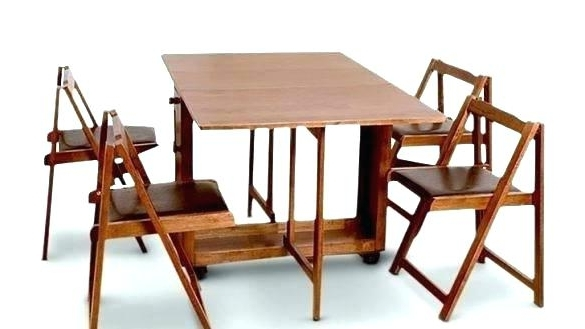 Most Recently Released Folding Dining Table And Chairs Folding Dining Table Folding Dining Intended For Dining Tables With Fold Away Chairs (View 14 of 20)