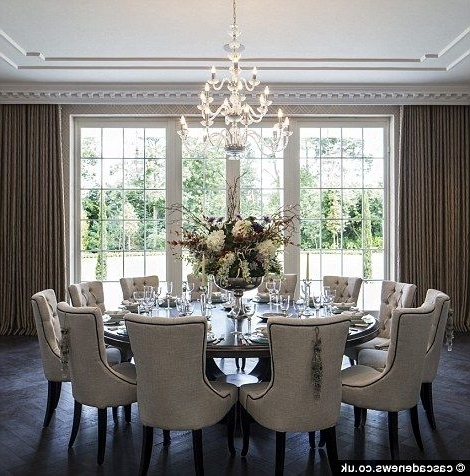 Most Recently Released Huge Round Dining Tables Regarding Mansion With Cinema, Pool And 1,700 Bottle Cellar On Sale For £ (View 16 of 20)