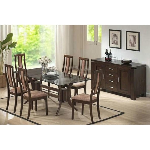 Most Recently Released Indian Wood Dining Tables Intended For Indian Wooden Dining Table Chairs At Rs 95000 /set (View 6 of 20)