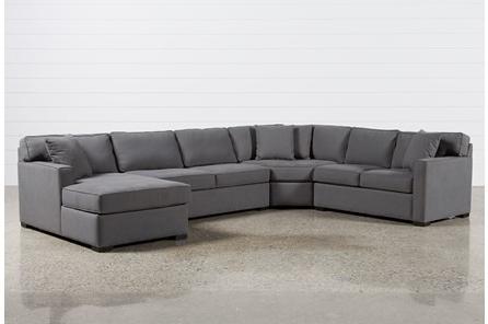 Most Recently Released Kerri 2 Piece Sectionals With Raf Chaise For Grey Sectional Sofa Kerri 2 Piece W Raf Chaise Living Spaces  (View 9 of 15)