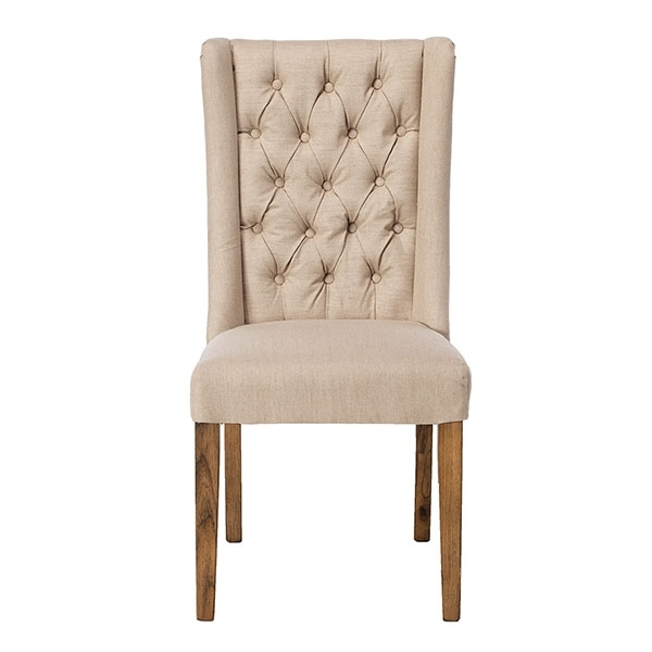 Most Recently Released Kipling Fabric Dining Chair, Cream And Oak (View 5 of 20)