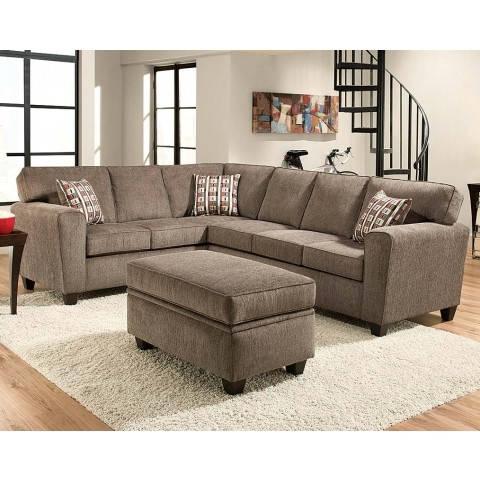 Most Recently Released Light Gray Pewter Two Piece Sectional Couch (View 8 of 15)