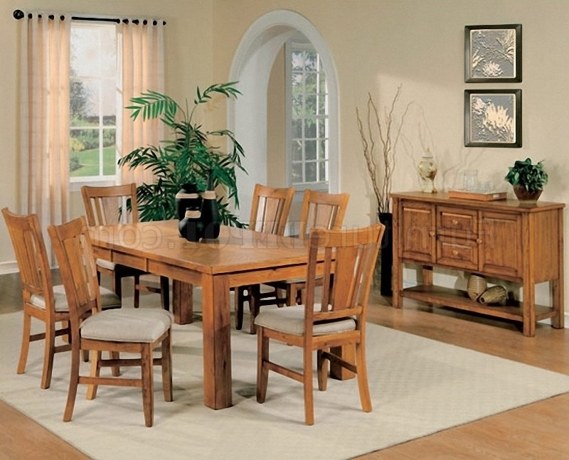 Most Recently Released Light Oak Finish Casual Dining Room Table W/optional Chairs Inside Light Oak Dining Tables And Chairs (View 16 of 20)