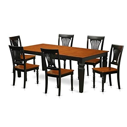 Most Recently Released Logan Dining Tables Regarding Amazon: East West Furniture Lgpl7 Bch W 7 Pc Kitchen Table Set (View 20 of 20)